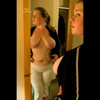 Big Boobs In Mirror - Big Nipples, Big Tits, Mirror Shot, Topless