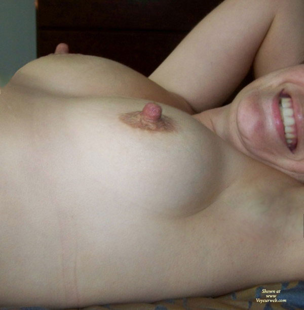 Pic #1 - Katie - My Nips , I Have Gotten Some Compliments In The Past On My Hard Nipples. Here Are A Few To Enjoy. Love To Hear The Comments.