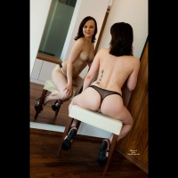 Mirror Shot Of Topless Chick - Topless, Nude Amateur, Nude Wife