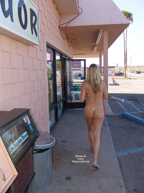 Pic #1 - Chance Of Being Seen - Blonde Hair, Nude In Public, Nude Outdoors , Chance Of Being Seen, Naked Eip In Heels, Naked By Convience Store, Blond Hair, Outdoor Nudity, Public Nudity