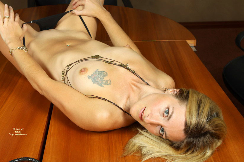Pic #1 - Nude Girl On Table Showing Bald Pussy - Blonde Hair, Blue Eyes, Shaved Pussy, Small Breasts, Small Tits, Bald Pussy, Naked Girl, Nude Amateur, Sexy Girlfriend , Small Tits With Boobie Tattoo, Benchmark, Short, Erect Nipples, Cookie Sheet Breasts With Tat, Table Top Temptress, Nude Slim Sexy Chick