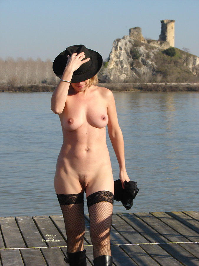 Pic #1 - Nude Wife On Dock - Stockings, Nude Amateur, Nude Wife , Pussy And Tits, Hiding Face Under Hat, Black Hat, Black Hat Net Stockings Boots, Hat And Stockings, Catching A Little Sunshine, Hats Off To You, Walking On Jetty, Black Thigh-high Fishnet Stockings, Black Boots, Castle Ruins, Castle Watch Of Nude
