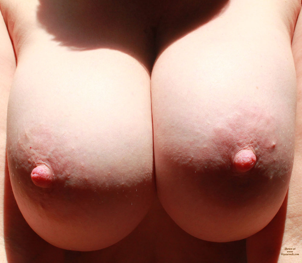 Pic #1 - Wife's Tits - Big Tits, Erect Nipples, Topless , Tit Closeup, Wife's Boobs, Wife Photo, Close Up, Big Boobs, Topless Wife, Big Nipples