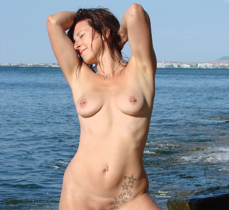 Nude Wife With Pierced Nipples On Public Beach - January -5498