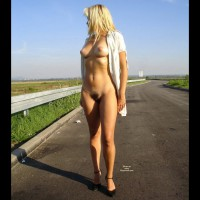 Nude Blonde Standing On Street - Blonde Hair, Brunette Hair, Dark Hair, Long Legs, Milf, Hot Girl, Nude Amateur