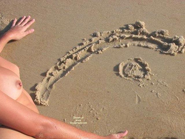 Pic #1 - Tits On Beach - Voyeur , Tits On Beach, The Eye, Voyeur Web, Vw Logo
