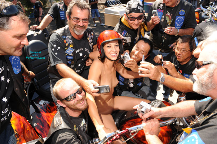 Pic #1 - Brave Nude Girl, Naked In Crowd Of Men - Small Tits, Naked Girl, Nude Amateur , Big Smile, Horney Bikers Taking Cell Phone Photos, Tiny Titted Skinny Girl Seeking Attention, Nude On Motorcycle, Helmet Head, Event Voyeur, Attention Magnet, Biker Babe