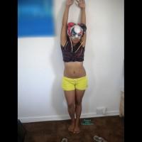 Shy Aisha With A Mask On