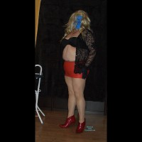 Gina In Red Latex Mini Pt. 1