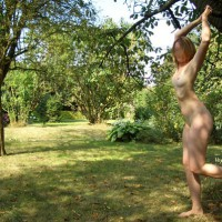 Lyloo Naked Outside In The Trees