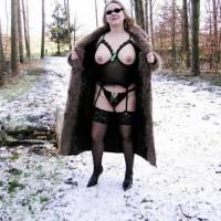 Franzi In Lingerie Outside In A Forest