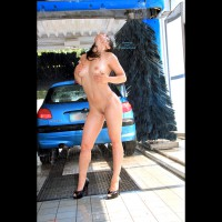 Naked Car Wash - Brunette Hair, Nude Amateur , Standing In Car Washer, Wet Body, Standing With Back Arched, Carwash, Wet Curves, Naked Brunette Wet, Standing Nude Behind Car, Hands On Her Breasts, Wet At The Car Wash, Wet And Wild Wash, Car Wash Curves