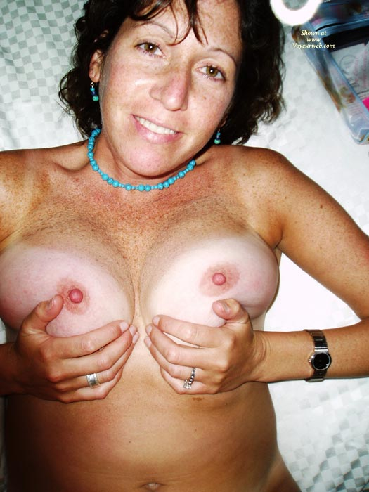 Pic #1 - Squeezing Tits - Erect Nipples, Hard Nipple, Milf, Tan Lines , Squeezing Tits, Hard Nipples, Pert Breasts, Erect Nipples, Tanned Milf, Breast Exam, Milf Boobs, Tan Lines, Squeezin Boobs