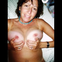 Squeezing Tits - Erect Nipples, Hard Nipple, Milf, Tan Lines