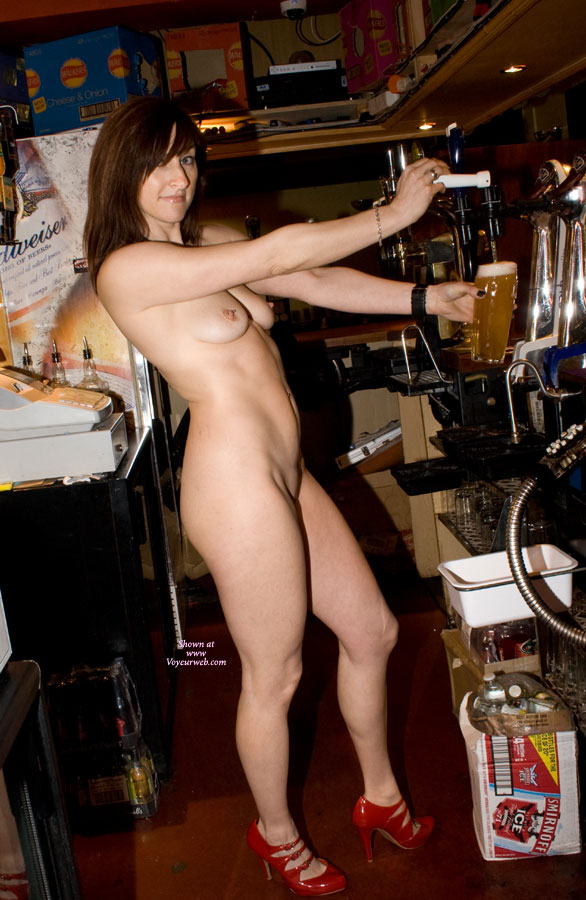 Nude Bartender - Brunette Hair, Nude Amateur , Barmaid Serving Behind Unsanitary Bar, Slender Brunette, Nude On Heels, Happy Hour Starts Now, Nude Bar Maid, Fuck Me Heels, Nude Me, Basement Beauty, Best Dressed Bar Tender, Pullin A Beer Naked
