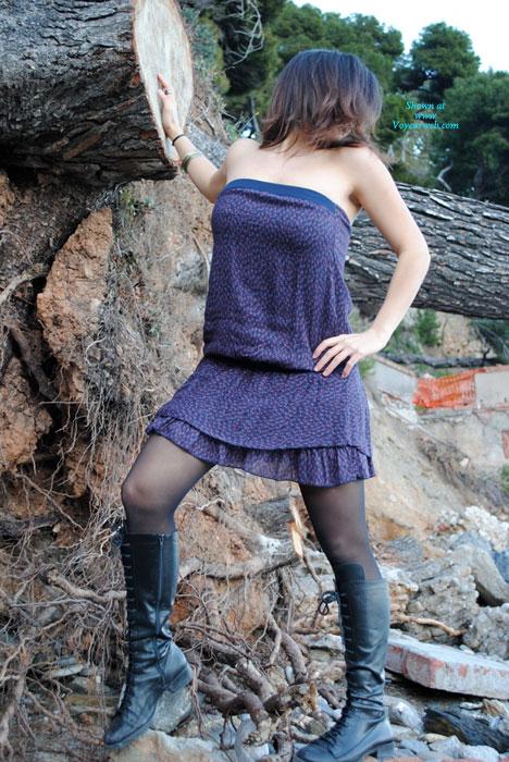 Pic #1 - Sophia In Public , A Lovely Walk...