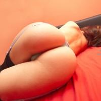 Fantastic Ass - Brown Hair, Round Ass, Stockings