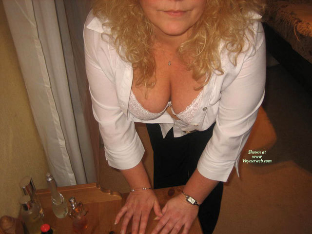 Pic #1 - My Big Breasted Wife Showing Her Tits , Here Are A Few Pictures Of My Big Titted Wife Being Told To Pose For The Camara. I Have Many Different Photo And Video Sets Of Her, Which Are All Listed For Those Who Are Interested. Just Leave A Coment And I'll Email You. <br /><br />Would You Like To Have A Feel Of These Tits??