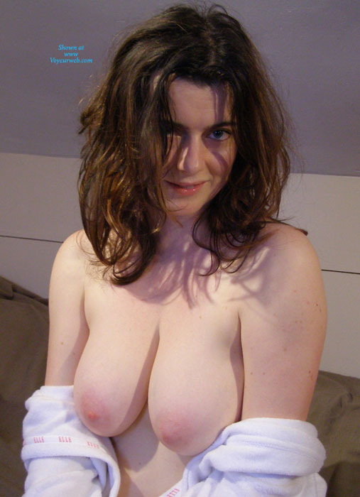 Pic #1 - Big Breasted Brunette - Brunette Hair, Topless, Nude Amateur, Nude Wife , Ruffled Hair, Pink Nipples, Large Boobs, Topless Brunette Beauty, Soft Skinned Brunette, Great Hangers, Topless Temptress, Pink Areolas