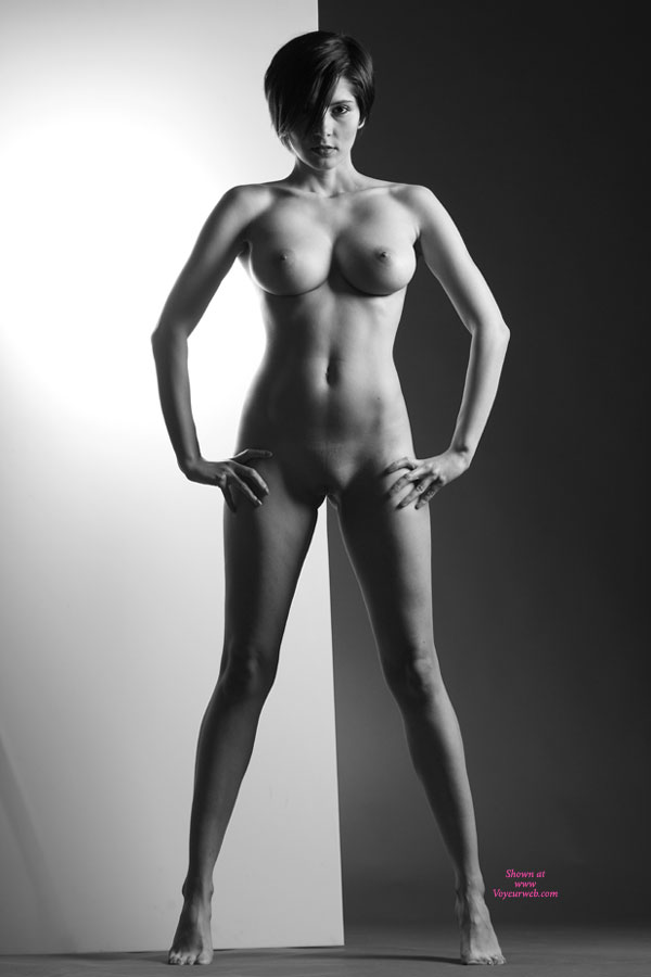 Pic #1 - Standing Nude With Spectacular Tits - Brunette Hair, Nude Amateur, Sexy Body, Sexy Face, Sexy Figure, Sexy Girl, Sexy Woman , Amazing Boobs, Tight Bodied Nude Split, Short Haired Brunette, Nude On Her Toes, Wonder Woman Revealed, Standing On Toes, Shaven Angel, Black & White, Nude Me, Solidly Tight Build, B&w Naked Art, Fantastic Tits, Standing Nude, Arty