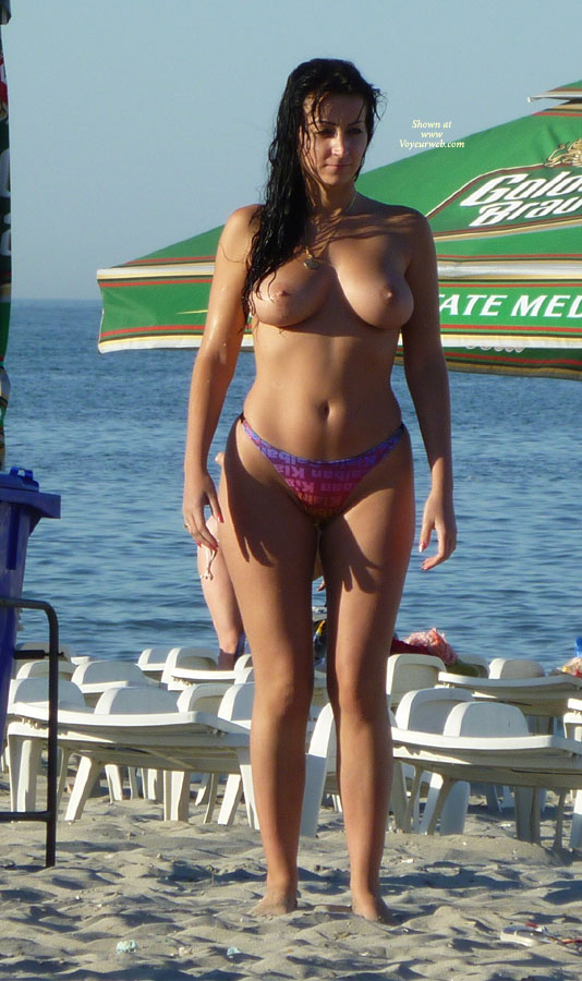 Brunette Amateur Beach Model , For Those Who Want To See More From This Romanian Beaty!