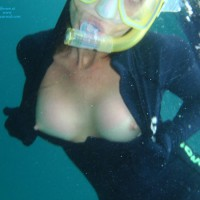 Underwater Tit Flash - Flashing Tits, Flashing, Hard Nipple, Nude Amateur, Nude Wife