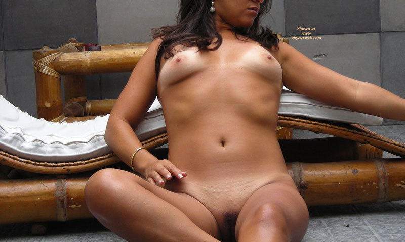 Pic #1 - Sitting Nude Laying Against Bamboo Lounge - Brunette Hair, Shaved Pussy, Small Breasts, Tan Lines, Naked Girl, Nude Amateur , Tan Lines And Shaved Muff, Small Firm Breasts, Frontal View, Sitting Nude, Sitting On The Floor Against A Bamboo Recliner, Tan Brunette, Shaved Bare, Breast Tanlines