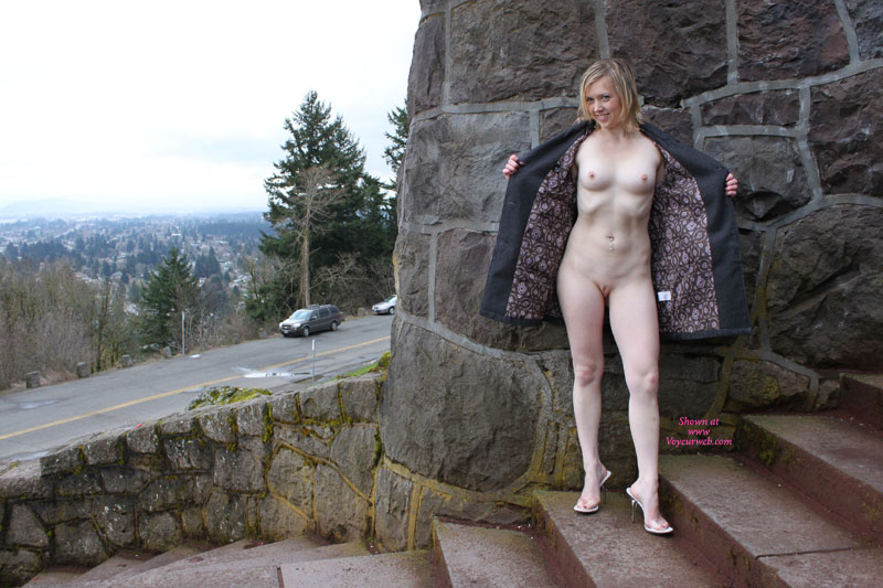 Pic #1 - Open Coat Flash - Blonde Hair, Exhibitionist, Flashing, Shaved Pussy, Small Breasts, Nude Amateur , White Milky Skin, Public Flashing, Stone Cold Flasher, Short Haired Blond Flashing, Pink Pussy, Flashing Her Twolly, Nude Amateur On Heels, Shaved Crotch
