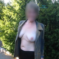 Undressing Crystal Outdoors
