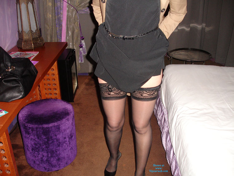 Pic #1 - Hotel Fun With My Sexy Chic Wife , A Very Hot Night Of Sexe In A Hotel Room With My Naughty Sexy Chic... She Was So Sexy With Those Lingerie, And So Excited, She Always Told She Is A Slutty Bitch For Me...and Voyeur... Comments Are Sooo Welcome.............................