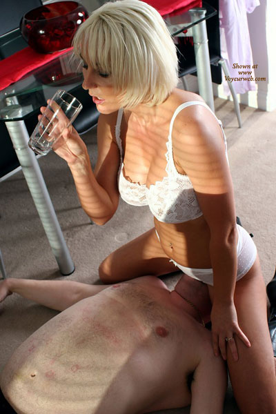 Pic #1 - White Lingerie - Blonde Hair, Sexy Lingerie , White Lingerie, Kitchen Sex, Face Sitting, Resting Girl, Blond, Muff Ride