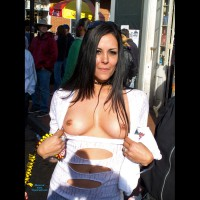 Flashing Tits - Black Hair, Flashing