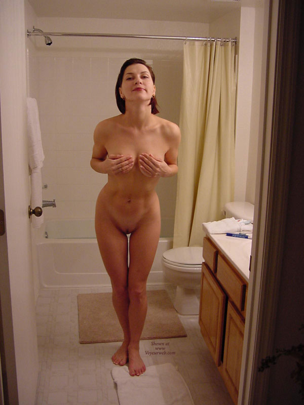 Pic #1 - Dressed With Hand Bra - Brunette Hair, Milf, Shaved Pussy, Nude Amateur, Nude Wife , Covering Tits, Short Haired Brunette, Nude Friend's Wife, Bathroom Milf Pose, Sexy Hips, Tit In Hand Nude, Clean And Perky, Bathroom Babe, Fit Milf Coving Her Tits