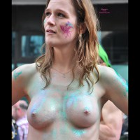 Painted Tits In Public - Firm Tits, Perky Tits