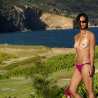 Topless Exotic Beauty - Sunglasses, Tan Lines, Topless, Nude Amateur