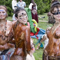 Mud Covered Babes - Topless