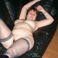 Peggy And The Leather Sofa