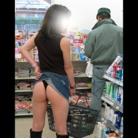 Miniskirt And Boots - Exposed In Public