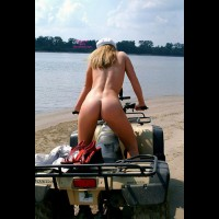 Nude On A Four Wheeler - Brown Hair, Long Hair, Nude Amateur, Sexy Ass