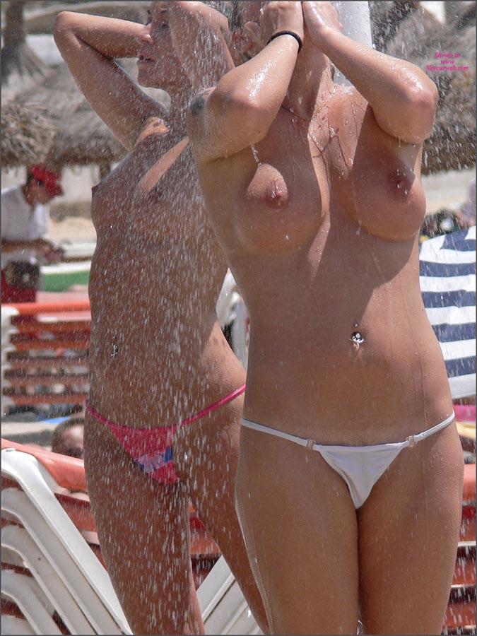 Nude beach girl shower — 5