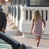 See Through Dress And Thong In Public