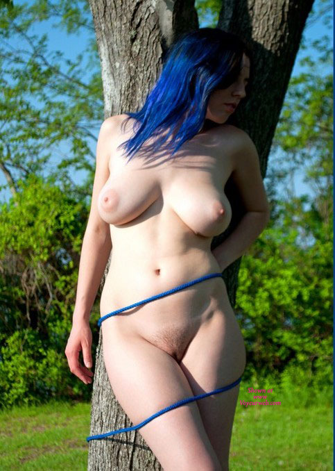 Pic #1 - All Tied Up And Blue , I Was Walking Thru The Woods And I Found A Woman So Blue.