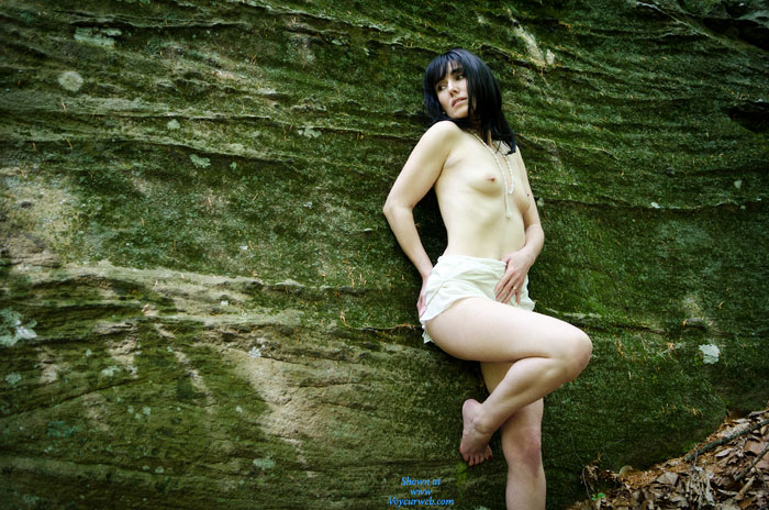 Pic #1 - Creamy White Topless Nude - Small Tits, Topless , Smallish Tits, Small Attractive Tits, Alabaster Beauty, Bare Foot, Dark Haired Fair Skinned, Topless Outdoor, Topless Me