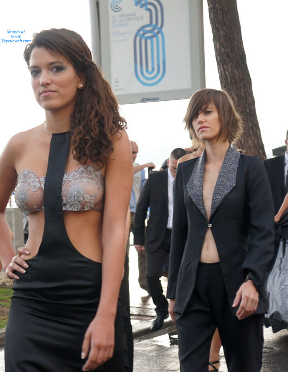 "Pic #1 - See Through Top Cannes Film Festival - Brunette Hair, See Through, Topless, Sexy Girl , Prom Night With Attitude, ""topless"" Dress With See-thru Bra, See Through In Public, See Through Dress, Brunette Exposing Tits In Public, Event Voyeur"