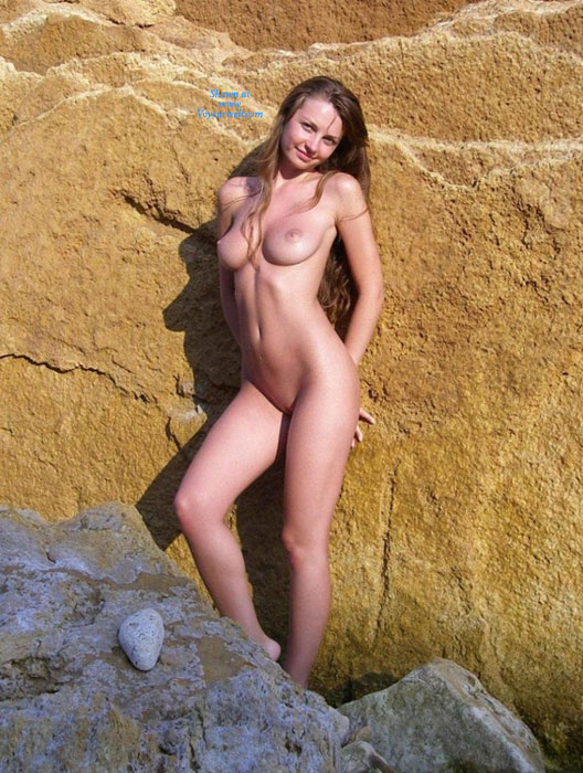 Nude Girlfriend Standing Against Rocks - Naked Girl , Nude Beauty, Purrfect Curves, Sleek And Lean Sex Pot, European Teen, Perfect Body, Great Tits, Naked Hottie, Beach Tiger, Slender Sexy Fuck