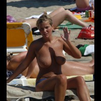 Big Tits Voyeur Beach - Big Tits, Blonde Hair, Huge Tits, Topless Beach, Topless, Beach Tits, Beach Voyeur, Sexy Girl