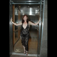 Black Dress And Elevator