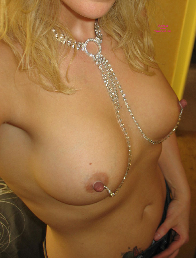 Pic #1 - Self Shot Of Chained Nipples - Blonde Hair, Erect Nipples, Hard Nipple, Perky Tits, Nude Amateur , Blond With Perky Tits, Hard As Diamond Cutters, Chained Nipples, Nipple Chain, Nipple Jewelery, Blonde Self Pic Of Her Titties, Hard Erect Nipples