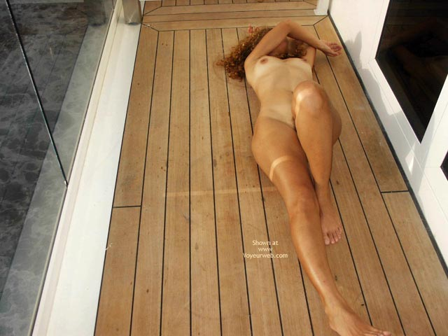 Pic #5 - Brazilian Wife On A Cruise 3 : Balcony And Deck