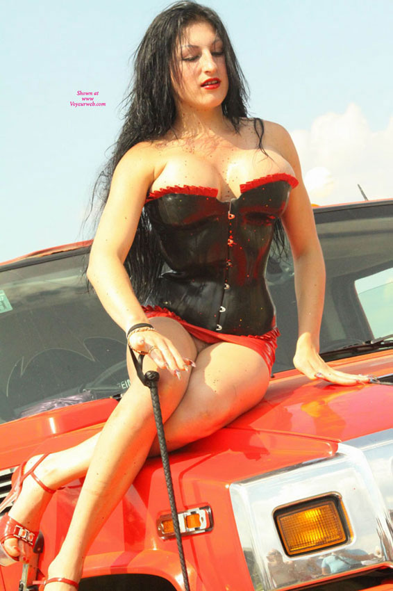 Pic #1 - Carshow Babe , This Is A Local Carshow Near My City. I Never Thought To Find Models Like This.